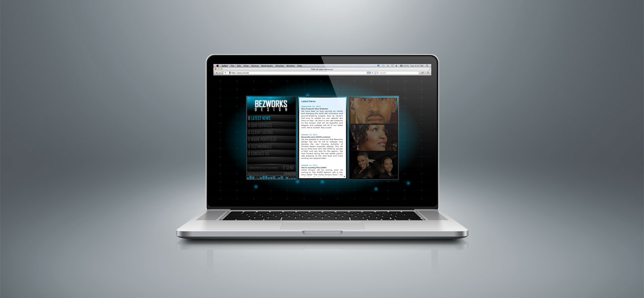 old-bezworks-site-laptop